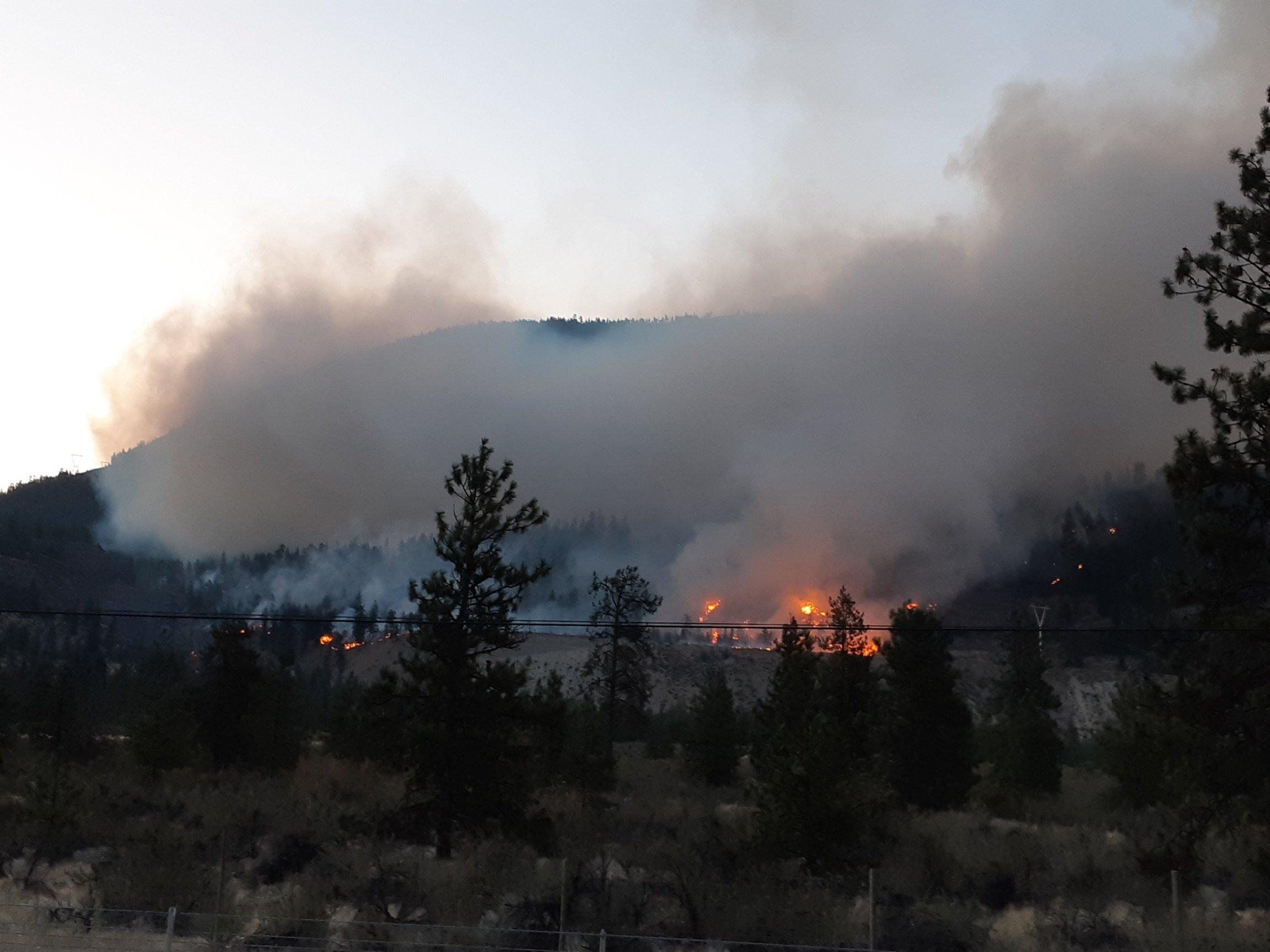 South Okanagan community preparing to evacuate as wildfire grows