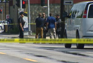 Man with gunshot wound hit by car, in critical condition