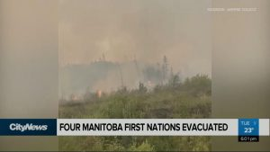 Military headed to Manitoba to help with growing number of wildfires, evacuations